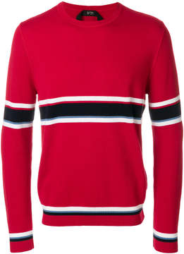 No.21 striped knit jumper