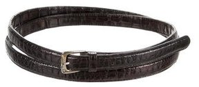 Ralph Lauren Alligator Skinny Belt