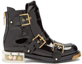 Alexander McQueen Buckle-fastening ankle boots