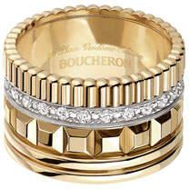 Boucheron Quatre 18K Yellow Gold Ring with Diamonds, Size 53