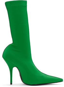 Balenciaga Green Sock Boots