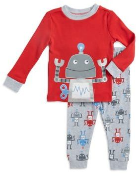 Little Me Little Boy's Robot Cotton Pajama Set