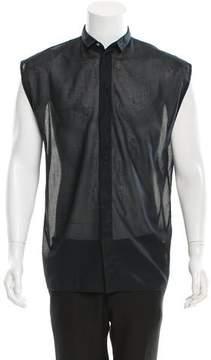 Christian Dior Sleeveless Sheer Shirt
