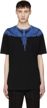 Marcelo Burlon County of Milan Black and Blue Double Wing T-Shirt