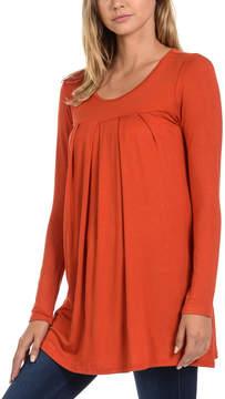 Magic Fit Orange Pleat-Front Top - Women