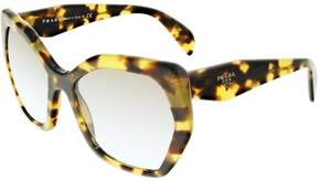 Prada Women's Gradient PR16RS-7S04S2-56 Tortoiseshell Butterfly Sunglasses