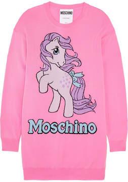 Moschino My Little Pony Intarsia Wool Mini Dress - Pink