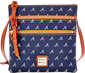 Dooney & Bourke As Is MLB Braves Triple Zip Crossbody - ONE COLOR - STYLE