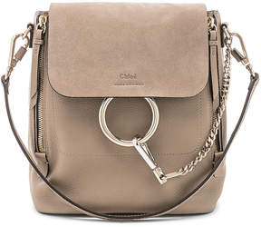 Chloé Small Faye Suede & Calfskin Backpack