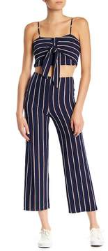 Dee Elly Striped Knit Flare Pants