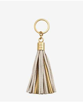 GiGi New York Tassel Key Chain In Ivory And Gold