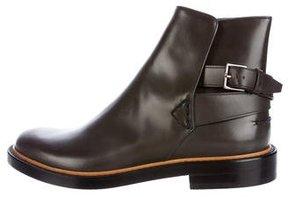 Fendi Leather Jodhpur Ankle Boots