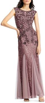 Aidan Mattox Embellished Tulle Gown