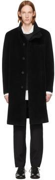Issey Miyake Black Long Beaver Coat