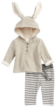 Nordstrom Infant Boy's Cozy Bunny Sweatshirt & Leggings Set