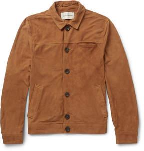 Oliver Spencer Buffalo Slim-Fit Suede Jacket