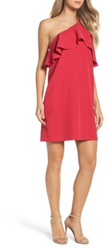 Charles Henry Women's Ruffle One-Shoulder Dress