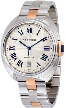 Cartier Cle Automatic Silver Dial Men's Watch
