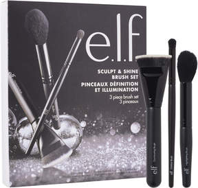 e.l.f. Cosmetics Sculpt & Shine 3 Piece Brush Set