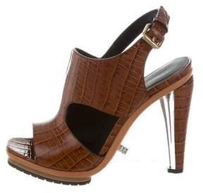 Rodarte Embossed Slingback Sandals w/ Tags