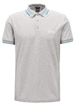 BOSS Hugo Regular fit pique polo shirt quick-dry technology L Open Grey