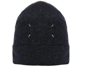 Maison Margiela Men's Blue Wool Hat.