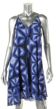 Calvin Klein Women's Racerback Chiffon Trapeze Dress