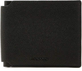 Lanvin Bi-Fold Pebbled Leather Wallet