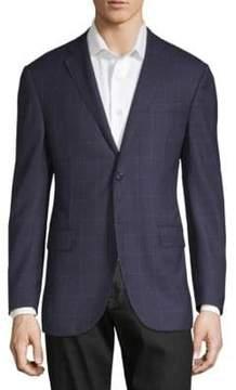 Corneliani Wool Windowpane Sport Jacket