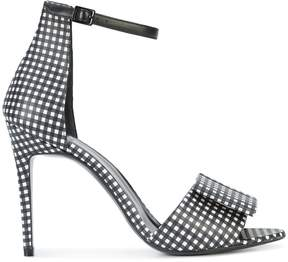 Pierre Hardy bow strap gingham sandals