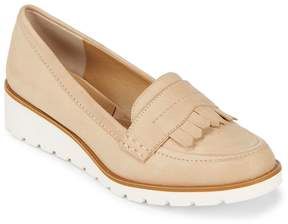 Adrienne Vittadini Women's Fringed Leather Flats