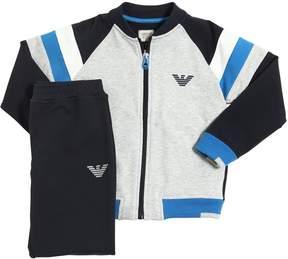Armani Junior Cotton Zip Up Sweatshirt & Sweatpants