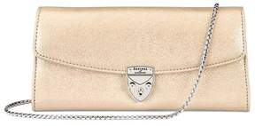 Aspinal of London Mini Eaton Clutch In Gold Dust Sparkle