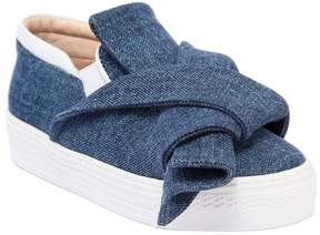 N°21 Denim Slip-On Sneakers