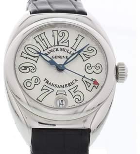 Franck Muller Transamerica 2000L Stainless Steel & Leather Quartz 33mm Womens Watch