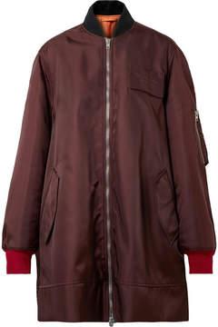 Calvin Klein Oversized Satin-twill Bomber Jacket - Merlot