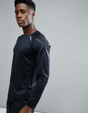 2XU Running Active Long Sleeve Top In Black MR5158A-BLK
