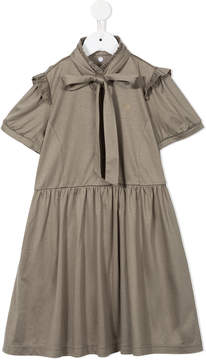 Familiar bow and frill trim dress