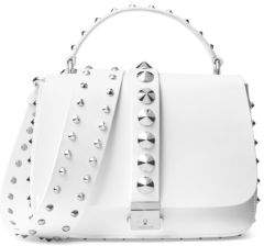Michael Kors Mia Leather Shoulder Bag - OPTIC WHITE - STYLE