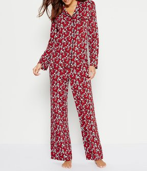Cabernet Scroll Floral Pajamas