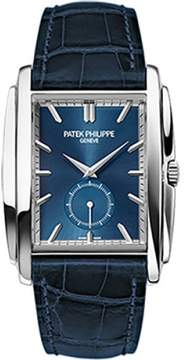 Patek Philippe 5124G-011 18K White Gold with Blue Dial 33.4mm Mens Watch