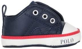 Ralph Lauren Nappa Leather Slip-On Sneakers