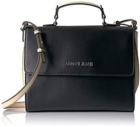 Armani Jeans Top Handle Saffiano Crossbody