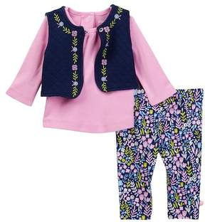 Offspring Wildflowers Vest Set - 3-Piece Set (Baby Girls)