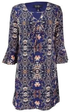 Jessica Simpson Women's Printed Peasant Dress