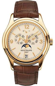 Patek Philippe 5146J 18K Yellow Gold / Leather 39mm Mens Watch