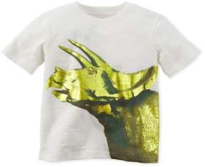 Carter's Boys Foil Triceratops Graphic T-Shirt Off-White 2T - Toddler