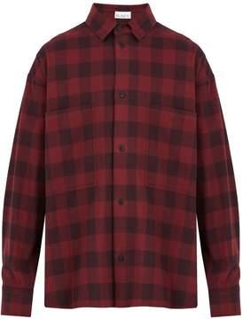 Raey Oversized checked cotton-flannel shirt