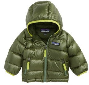 Patagonia Infant Boy's Hi-Loft Water-Repellent 600-Fill Power Down Sweater Hoodie
