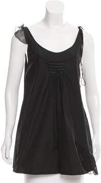 Sophie Theallet Sleeveless Ruffle-Accented Tunic
